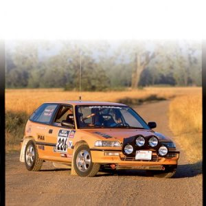 0504 ht 04 z+1990 honda civic rally car+front quarter