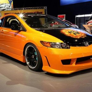 honda civic si tuning by k&n at sema 2997